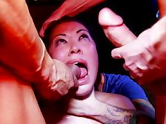 sexually aroused asian princess receives intensive gangbang